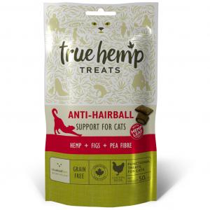 hennep snoepjes voor katten met haarballen en gezonde spijsvertering