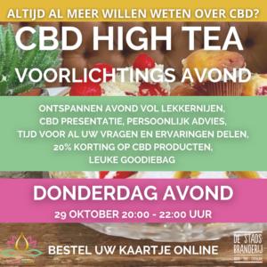 CBD High Tea en voorlichtingsavond